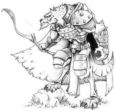 Grryn, Gnoll Ranger by mustardwash