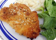 Savory Yogurt Chicken Breasts Recipe//We really enjoyed this chicken. I was short on time, so I fried it instead and it was delicious.  I look forward to baking it next time.  The yogurt keeps the chicken extra moist.