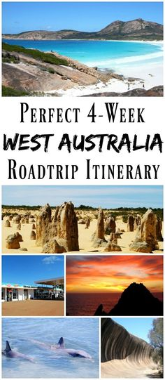 PIN FOR LATER: The most epic roadtrip itinerary for seeing the most of Western Australia in just 4 weeks! Perfect for that special trip, this itinerary takes you from Perth, down to Margaret River, Albany, Esperence, Wave Rock, and up to The Pinnacles, Monkey Mia, Exmouth, and Broome.