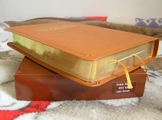 Arabic Light Brown Leather Bible / Golden Edges, High Quality Bible