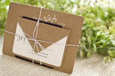 love the natural look for invites. These would definately fit my country chic kind of wedding.