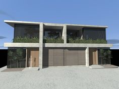 Dual occupancy development. Concrete, timber and glass. Residential architecture. Sydney, Australia