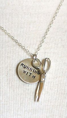 Running with scissors necklace // for the risk-taker in your life #jewelry_design