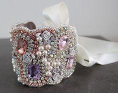 Zilveren bruids Manchet armband bruiloft Manchet armband