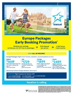 Europe Packages - Centre Holidays