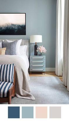 Ideas for bedroom blue color schemes home deco Bedroom Apartment, Home Decor Bedroom, Bedroom Wall, Apartment Therapy, Apartment Painting, Bedroom Furniture, Furniture Ideas, Couples Apartment, Bedroom Rustic