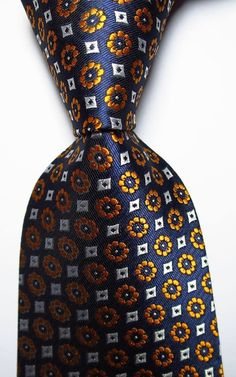 Blue Gold, Dark Blue, Blue And White, White Gold, Mature Mens Fashion, Mens Fashion Suits, Men's Fashion, Tie Pattern, Jacquard Weave