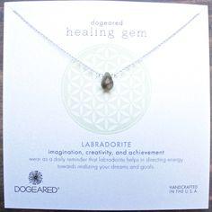 dogeared healing gem labradorite pendant necklace