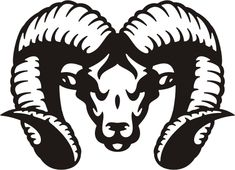 ram tribal #95 animal auto decal & car sticker