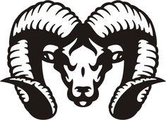 ram tribal #95 animal auto decal & car sticker