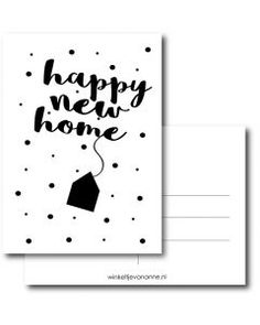 Happy new home A6 #quefem #quefemwebshop #winkeltjevananne #design #illustratie #babysitter #babysitplanner #planner #stationary #postcard #kaart #kaartjes #handlettering #interior #interiordesign #newhome #home #verhuizen