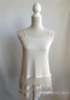 Grace and Lace - Top Extender - to wear under a shirt or Tshirt. Brilliant!