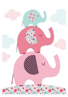 Elephants. Bubble Gum Years - ETSY