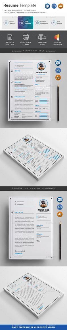 Resume Cv template, Resume cv and Font logo - font to use for resume