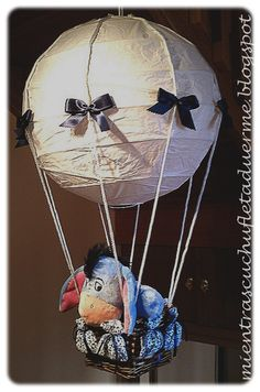 LÁMPARAS PARA SOÑAR. Lámpara globo infantil. Balloon lamp.