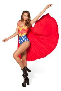 Wonder Woman Cape Suit by Black Milk Clothing $110AUD
