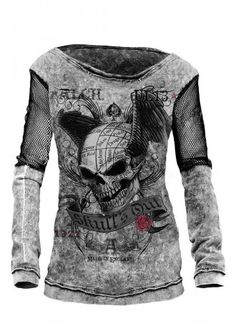 Alchemy England Apparel Skull Out Sweater | Attitude Clothing