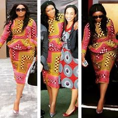Omotola Jalade Ekeinde Wows in Ankara outfit African Fashion Ankara, African Print Dresses, African Print Fashion, Africa Fashion, African Dress, Fashion Prints, African Clothes, African Prints, Fashion Styles