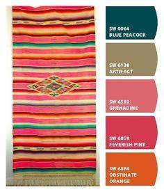 Colors of the southwest bedroom paint colors colorful for Southwest desert color palette
