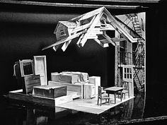 Lorenzo Savoini's model set for Death of a Salesman.