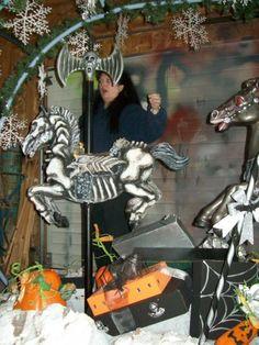 Halloween inspiration for painting my 'carousel' horse. Halloween Forum member ihauntu