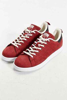 adidas Originals Stan Smith Nubuck Sneaker in red 81ab9218c