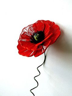 Quilled Red Poppy by all things paper, via Flickr