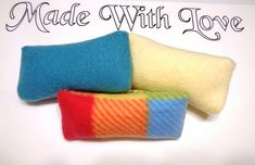 Refillable Washable Handmade Cat Pillows aka Kickers with