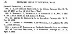 Benjamin Franklin Bosworth: Original data: Child, Elias,. Genealogy of the Child, Childs, and Childe families : of the past and present in the United States and the Canadas, from 1630 to 1881. Utica, N.Y.: Published for the author by Curtiss & Childs, 1881.