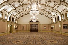 Bronze Winner - Best Ballroom: The Langham Huntington, Pasadena. Dating back to 1907, The Georgian Ballroom in the Langham Huntington, Pasadena features stained glass windows, gold-guild vaulted ceilings and Flemish art, offering historic charm and providing an elegant setting for both meetings and meals. The ballroom is 2,610 square feet, has a 25-foot high ceiling, and includes a china cabinet and antique mirrors.
