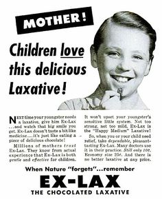 Granted, it has got to be better than cod liver oil. But this kid looks like the type who would eat a whole bar of Ex-Lax to miss school the next day, if you know what I mean.