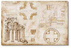 """Affreschi classici """"Rilievo architettonico"""" - Giuliano da Sangallo (1400)"""