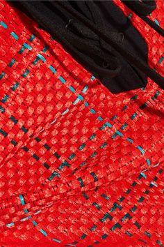 3.1 Phillip Lim - Twill-paneled Tweed Shorts - Red - US