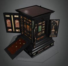 Kunstkammers became status symbols for the Renaissance princes, intended to reflect the prestige of both prince and principality. Philipp Hainhofer conceived miniature editions of Curiosity Chambers, produced for the nobility and displayed in the owner's drawing room for his enlightenment and entertainment. The contents of the cabinet were, as a rule, taken from Hainhofer's own collection.