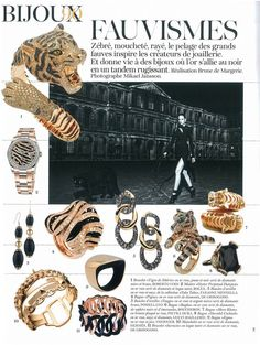 Vogue France - June/July 2012  Siberian Tigers Collection - Limited Edition, @Roberto Coin
