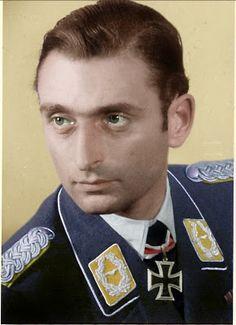 Major Rudolph Henne, Luftwaffe ace.