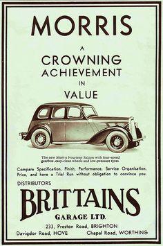 MORRIS Brighton & Hove Herald - 1937.