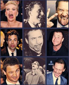 The Avengers cast being...interesting...and Scarlett Johansson being TERRIFYING