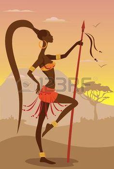 Vector Illustration of African Woman                                                                                                                                                                                 Más                                                                                                                                                                                 Más