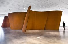 9) Abstract Sculpture Band Richard Serra Steel Overall: 153 x 846 x 440 in. Plate thickness: 2 in. (5.08 cm) 2006