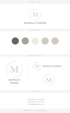 Brand reveal for Michelle Wiedel | Branding | Brand Board | Logo Design | Graphic Design | Design Inspiration | Logo Ideas | Brand Ideas | Website Design | Color Palette | August and White