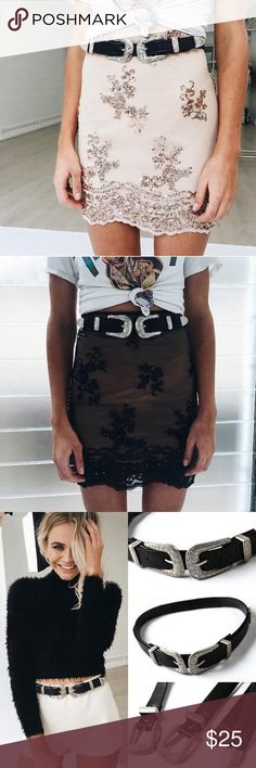 COMING SOON - SKIRT & BELT! Double buckle boho indie Coachella-inspired belt and sequin skirt coming soon! Like this post if you'd like to be notified of when they are available! ✨ Free People Accessories Belts
