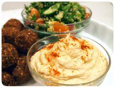 Egyptian Mezze Platter - Hummus, Falafel & Quinoa Tabbouleh