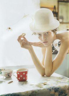"Sasha Pivovarova in ""White Nights"" by Tim Walker for Vogue UK January 2007"