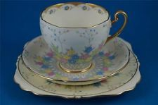 ROYAL GRAFTON CHINA Tea Cup, Saucer & Plate Trio FRINTON c 1935 ART DECO