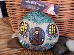 Hey, I found this really awesome Etsy listing at https://www.etsy.com/listing/185021551/painted-rock-fairy-cottage-garden
