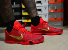 Nike Kobe X ID University Red Gold post image