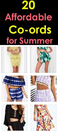 20 Affordable Co-ord Matching Sets