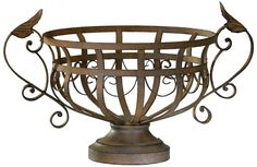 Aged Rust Iron Fruit Basket | LampsPlus.com