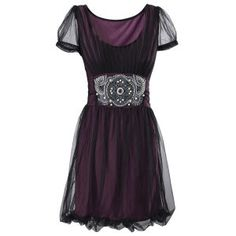 Purple Topaz Dress from PyramidCollection.com - Pretty and vaguely steampunk-ish.  I love the beaded waist.